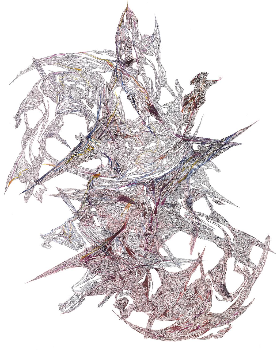 ATELIER n°55-ATELIER SANS TITRE- NICOLAS GUIDI- Animose-encres et aquarelle-76_56 cm-2020