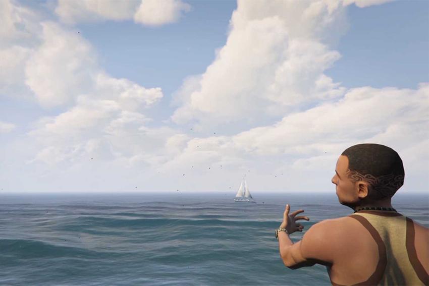 Aurélien Meimaris, Waiting for reality - Entre deux mondes - capture d'écran réalisée dans le jeu vidéo GTA V