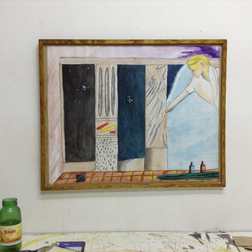 Bard KRISTIANSEN _pH7, pH10_ E_tude Acrylique et gouache sur papier Dimensions 52 cm x 43cm