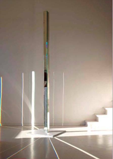 Colonne Joyce, 250 cm x 9cm x 9 cm Verre- miroirf