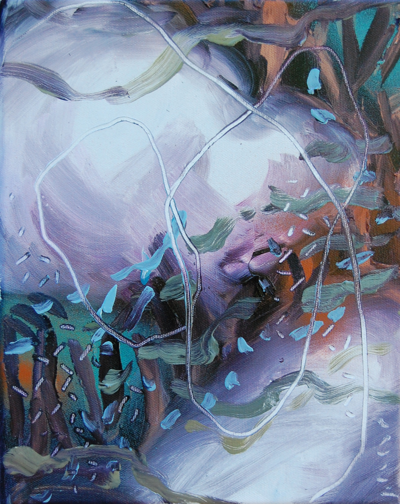 ATELIER 78- NICOLAS PILARD-Cosmos 2019, huile sur toile, 30x24 cm, 2020