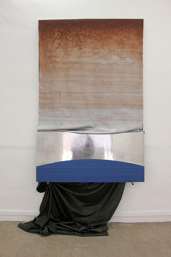 Hugo Bonnifait, La Frange du Lac et le Crepuscule, 2019, techniques mixtes, 210x140x30 cm