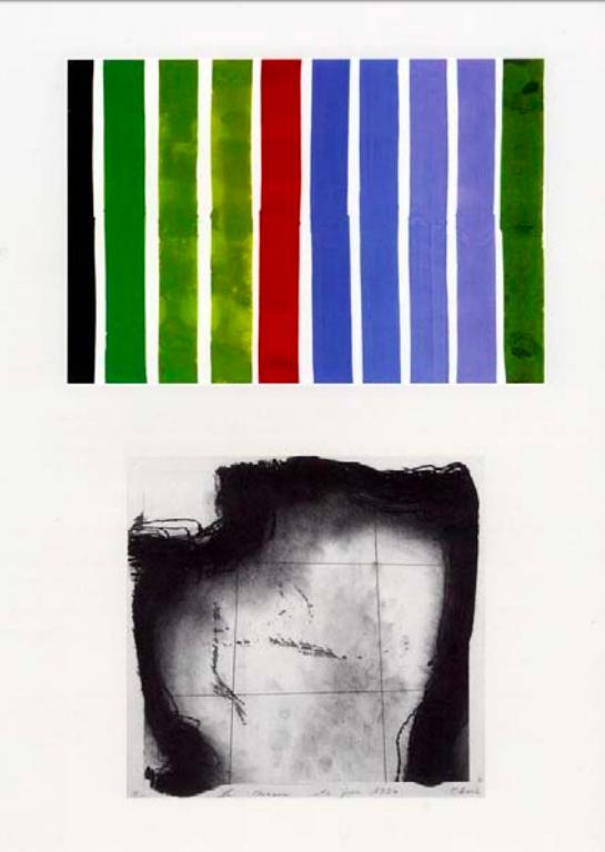 Maen-Sonn (stèle), 2006, gouache, encre et crayon sur papier, 143x103 cm.