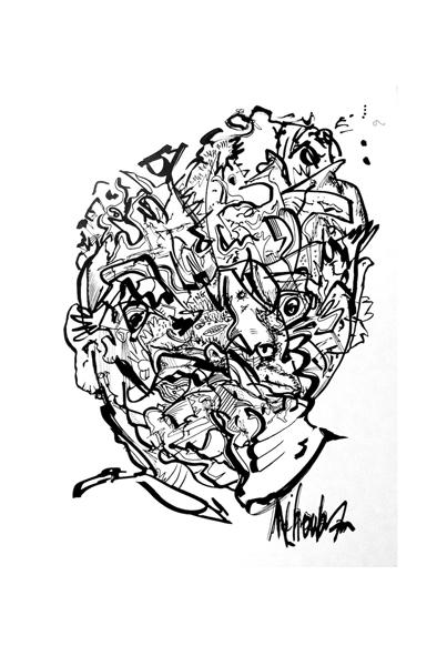 Atelier 50 - Mihoub Aouail Drissi,  Funky face