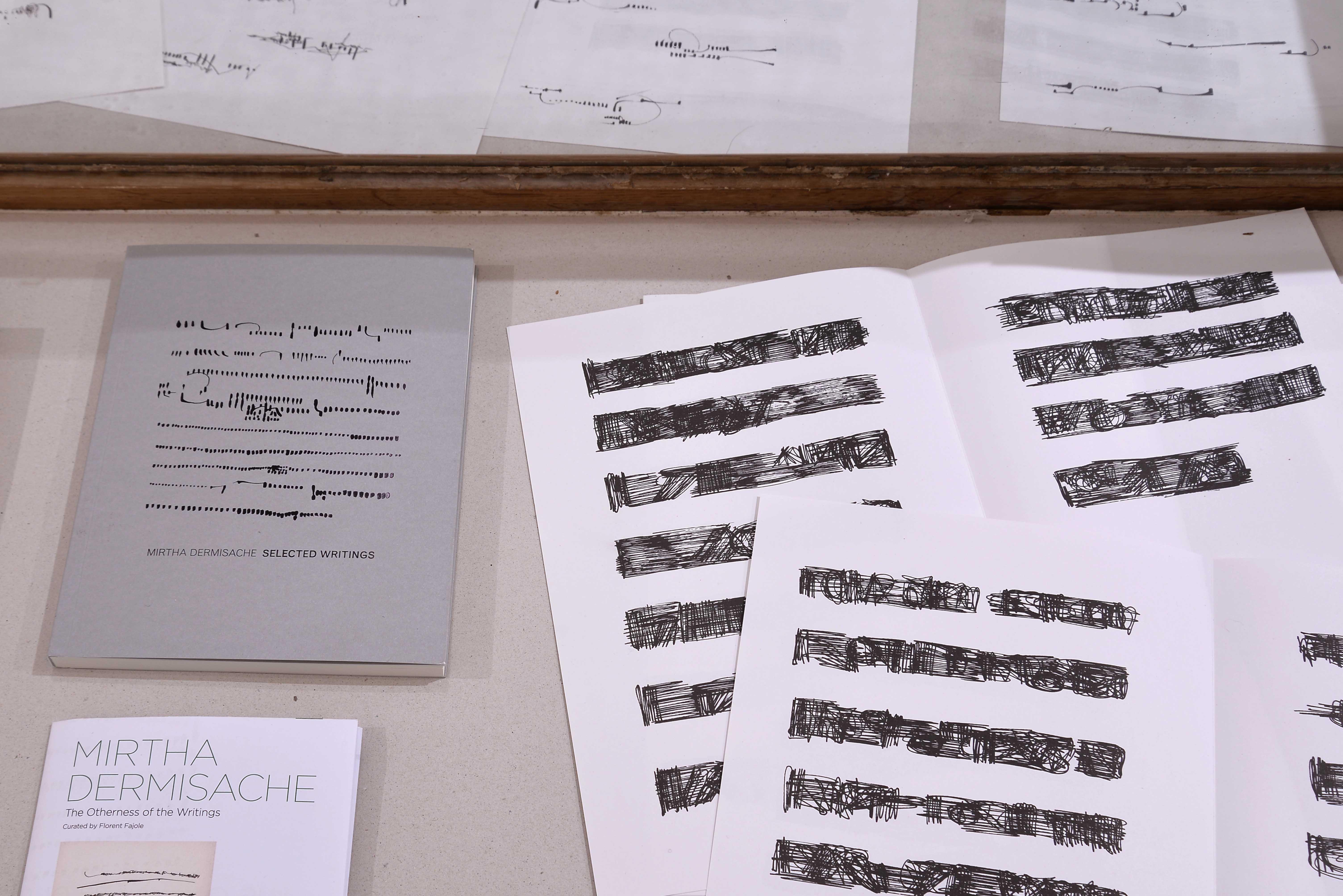 Mirtha Dermisache, Diez Cartas Collection, Florent Fajole, À l'heure du dessin, 6ème temps, Tracé - Château de Servières - © Aurélien Meimaris (24)