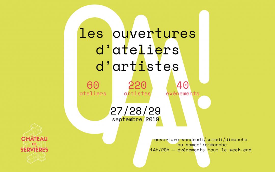 Les Ouvertures d'Ateliers d'Artistes 2019
