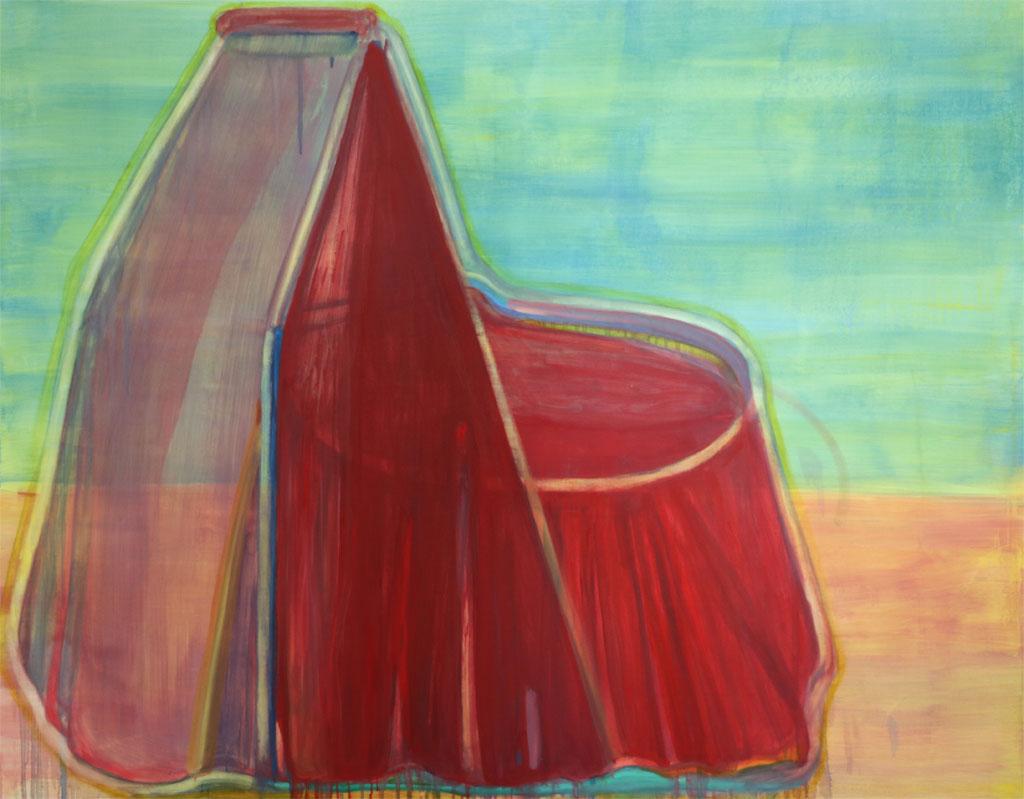 Sans titre, huile sur toile, 145 x 115 cm, 2018