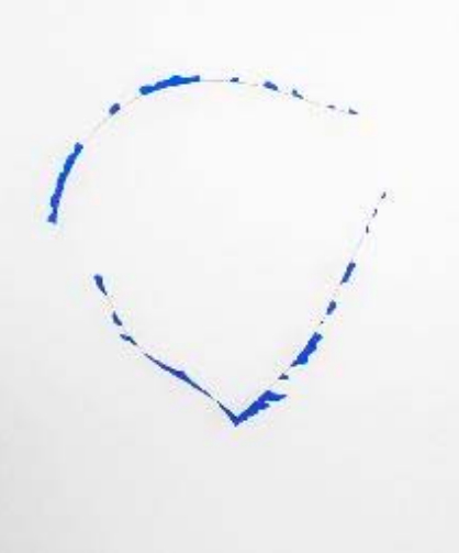 Sans titre. 1984. Plastique bleu cercle acier