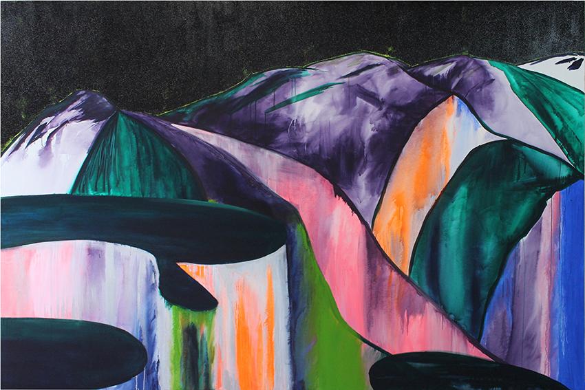 Victoire Décavele sans titre, acrylique sur toile, 250 x 300 cm, 2019