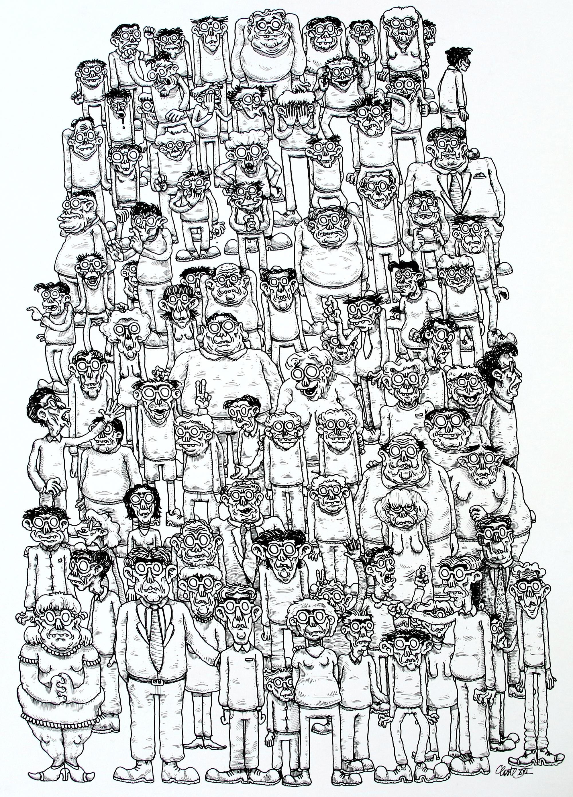 Victor Coste_ Portrait de famille _ 50 x 60cm _ dessin72