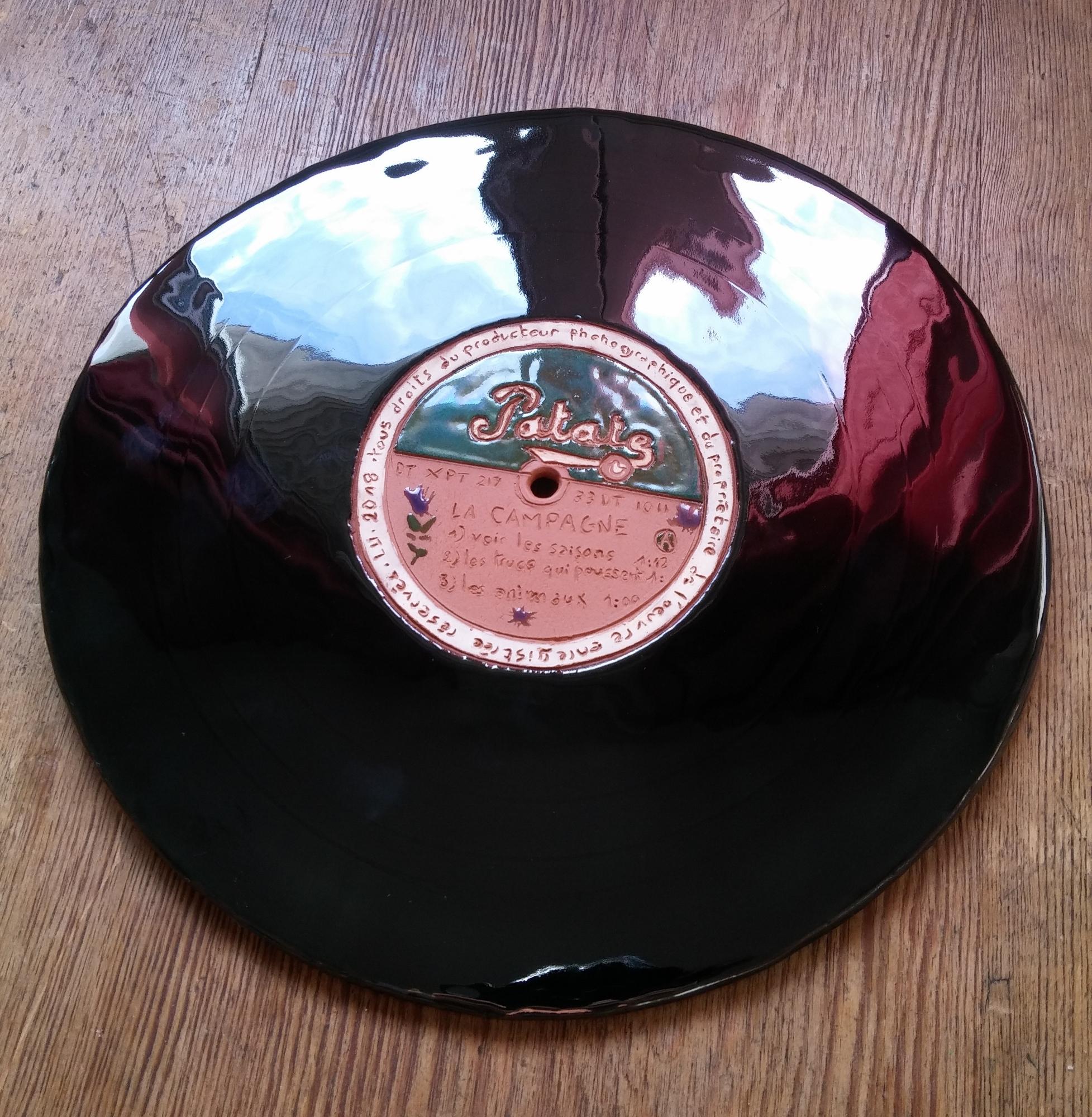 Vinyles, Céramique, Ø 24 cm, 2018 72dpi