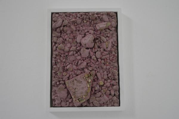 François-Xavier GUIBERTEAU img01 2016 Ciment, graviers, pigment, bois 16 x 22 cm Courtesy de l'artiste ©Gilbert Ceccaldi